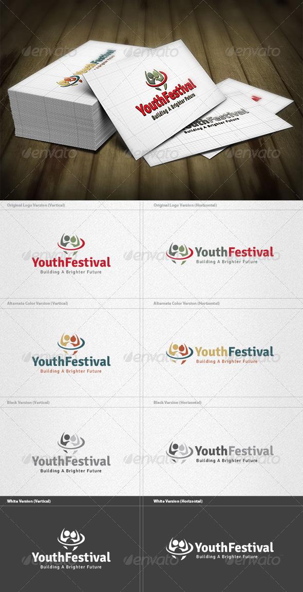 Youth Festival Logo - Humans Logo Templates