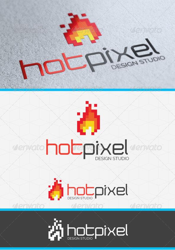 Hot Pixel Logo Template - Symbols Logo Templates