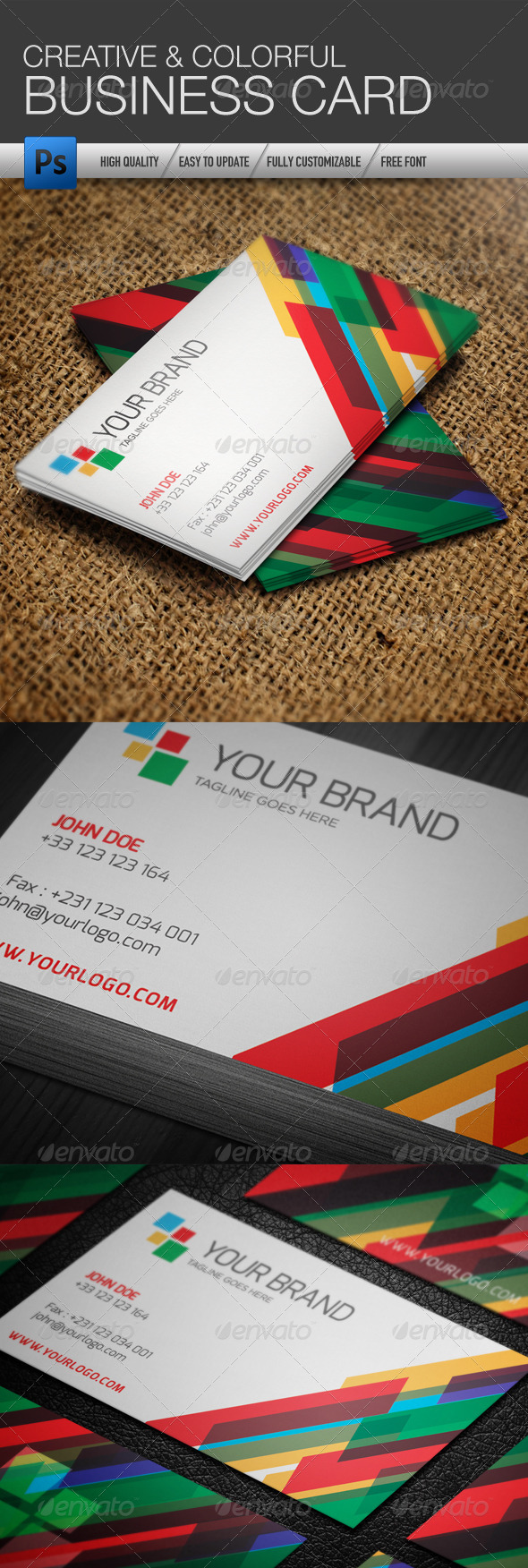 Creative Colorful Business Card Template - Creative Business Cards