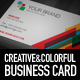 Creative Colorful Business Card Template - GraphicRiver Item for Sale