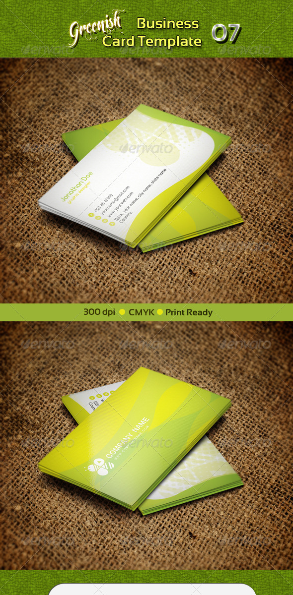 Greenish Business Card 07 - Creative Business Cards