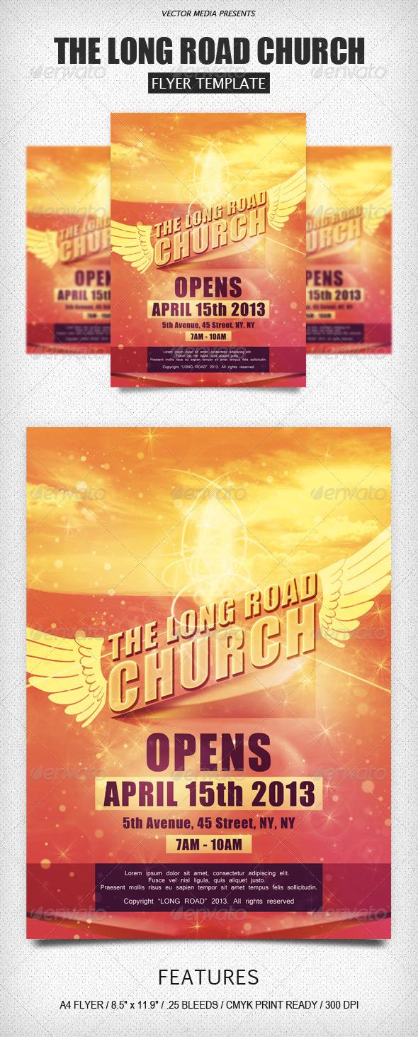 The Long Road Church - Flyer - Church Flyers