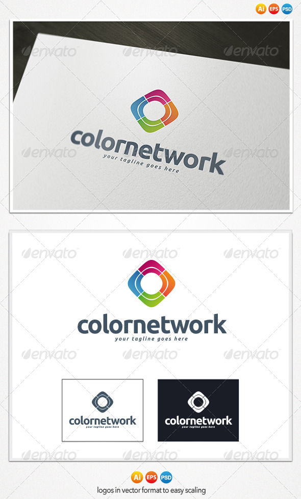Color Network Logo - Symbols Logo Templates