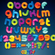 Cartoon Shiny Font. Multicolored Vector Alphabet - GraphicRiver Item for Sale