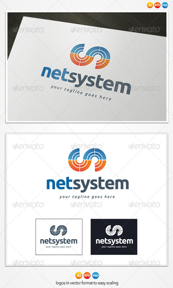 Net System Logo - Letters Logo Templates
