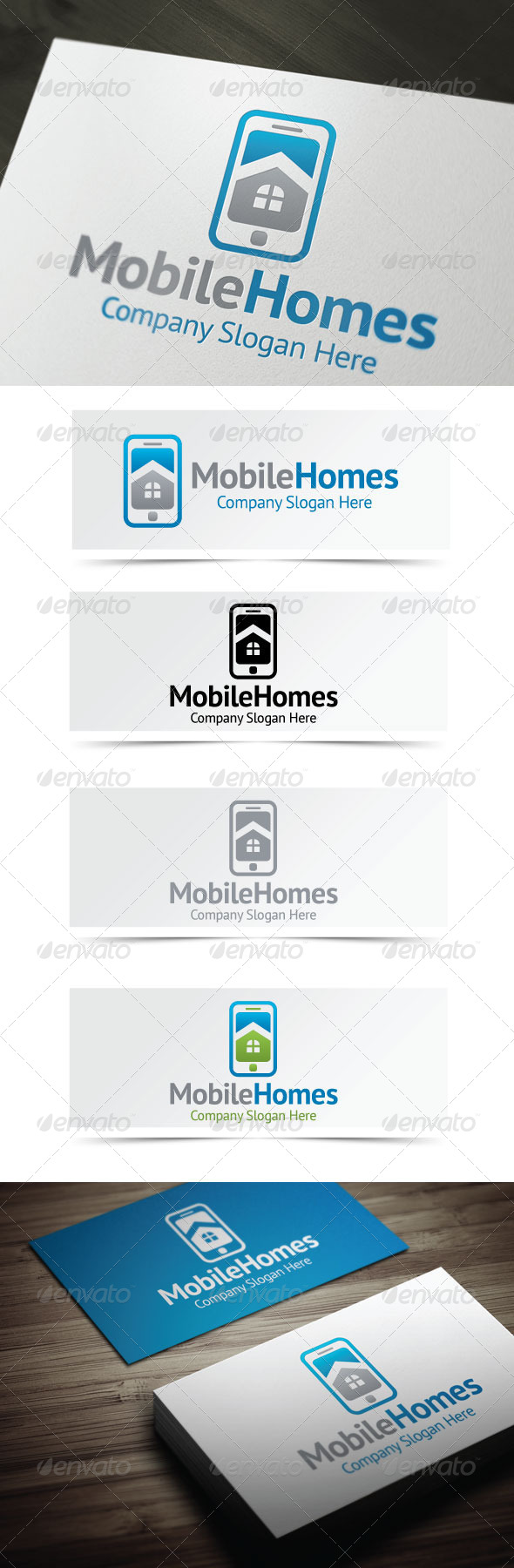 Mobile Homes - Buildings Logo Templates