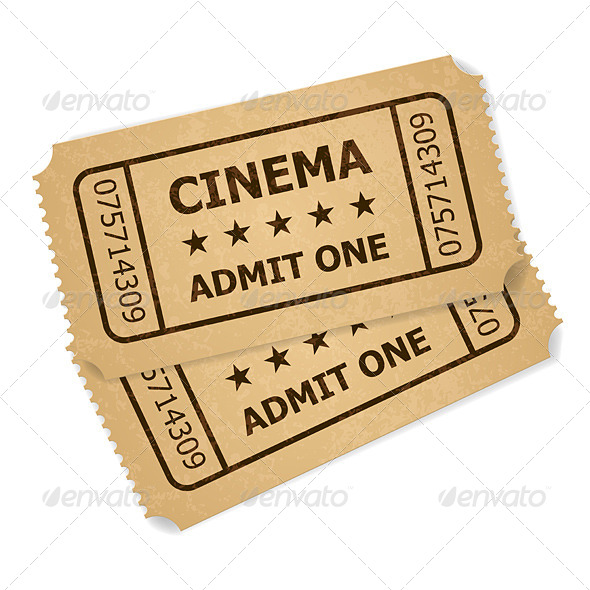Two Retro Cinema Tickets - Concepts Business