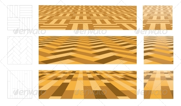 Parquet in Perspective Plane - Backgrounds Decorative