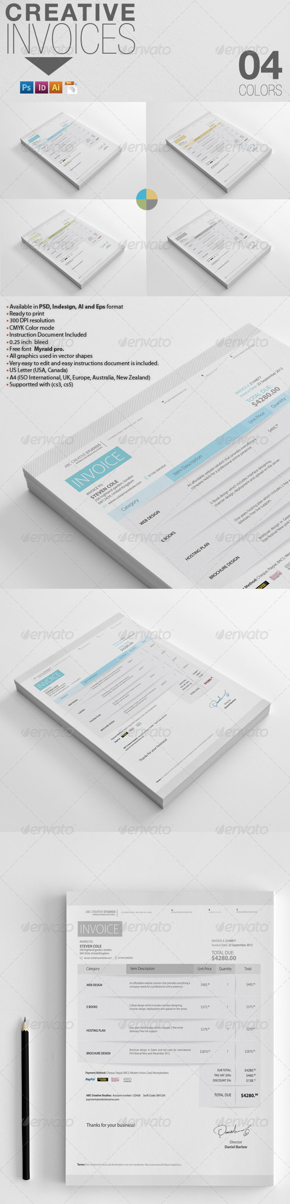 Creative Invoices - Proposals & Invoices Stationery
