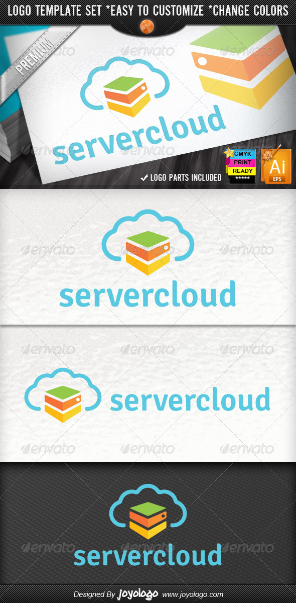 Internet Hosting Cloud Server Logo Template - Objects Logo Templates