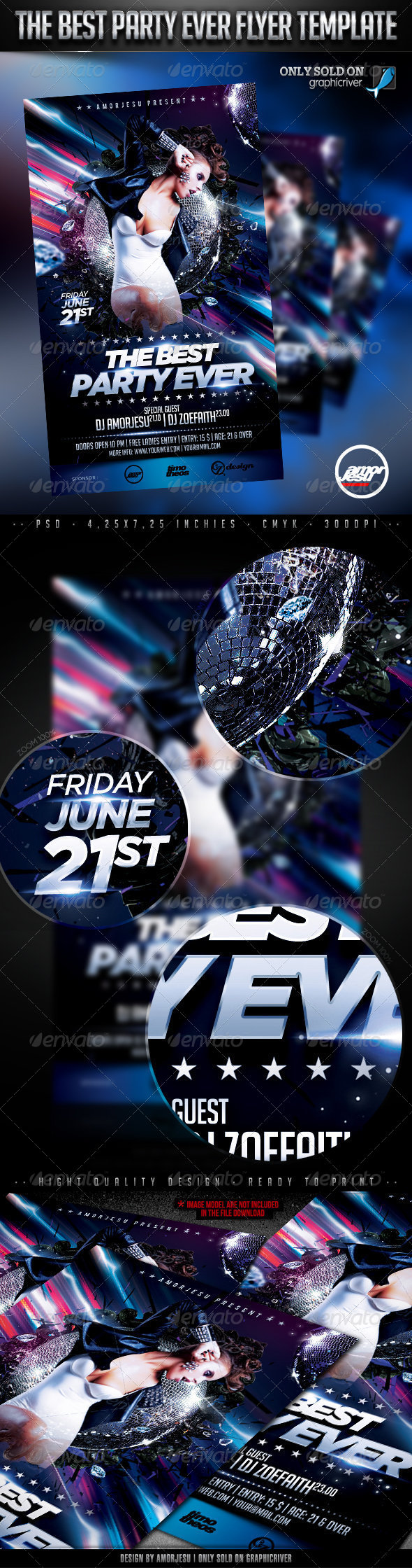 The Party Ever Flyer Template - Clubs & Parties Events