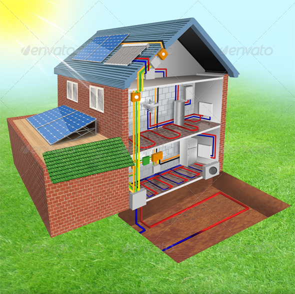Solar Panels  - Architecture 3D Renders