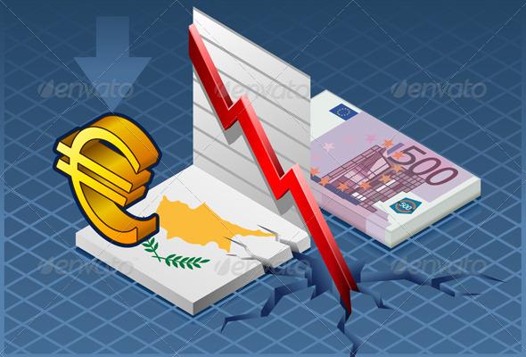 Isometric Cyprus Crisis - Conceptual Vectors