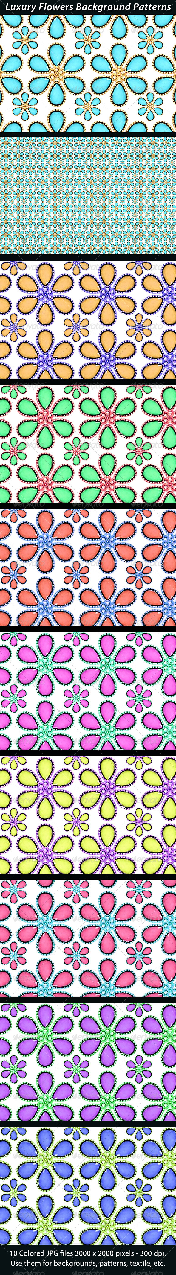 Luxury Flower Background Patterns - Patterns Backgrounds