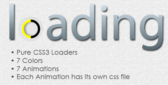 Simple CSS3 Animated Loaders - CodeCanyon Item for Sale