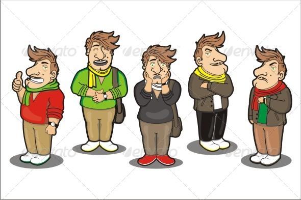 Man Illustration - Characters Vectors