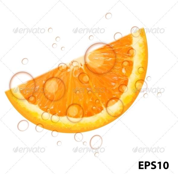 Fresh Orange Background Vector Illustration - Food Objects