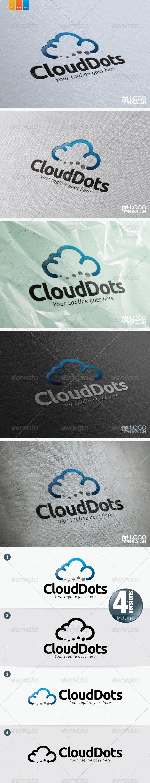Cloud Dots - Symbols Logo Templates