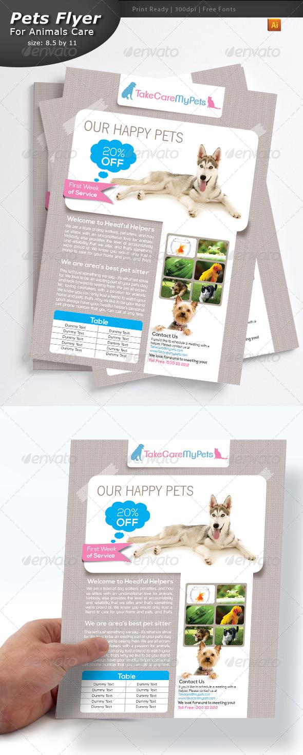 Pet Services Flyer - Flyers Print Templates