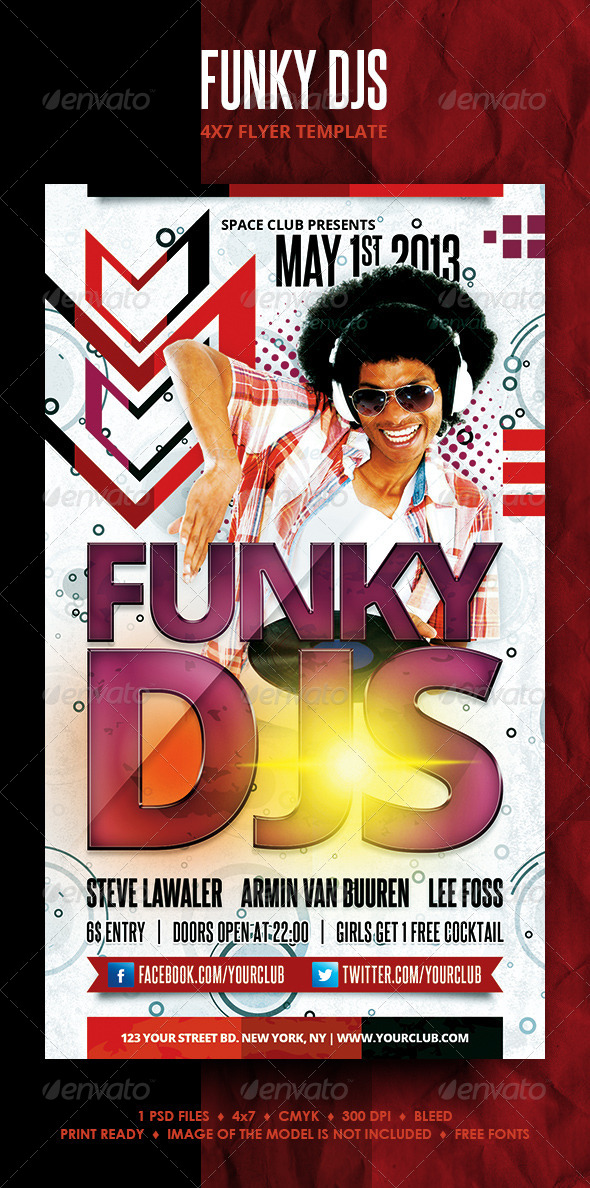 Funky DJs Flyer - Clubs & Parties Events