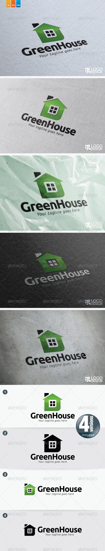 Green House - Buildings Logo Templates