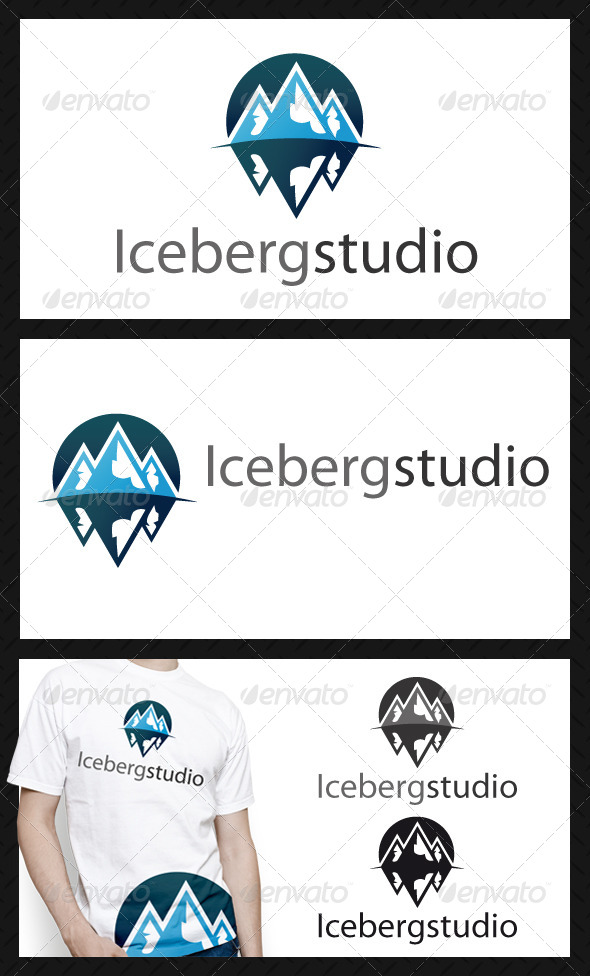 Iceberg Logo Template - 3d Abstract