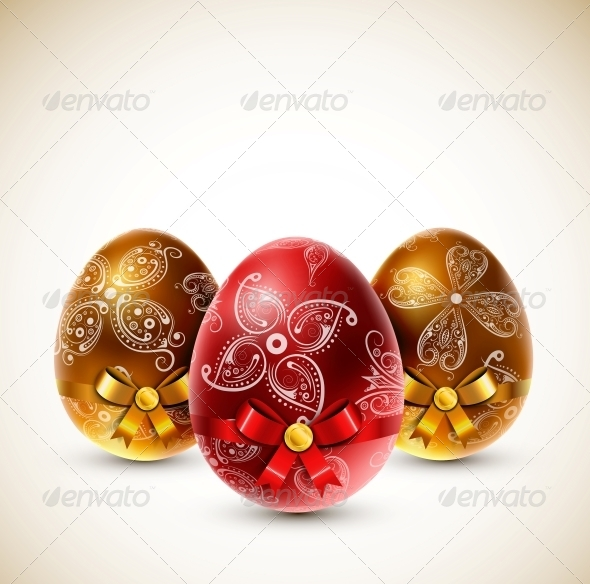 Eggs with Bows - Miscellaneous Seasons/Holidays