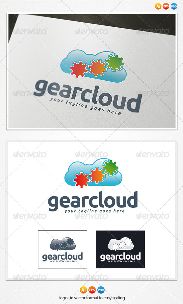 Gear Cloud Logo - Symbols Logo Templates