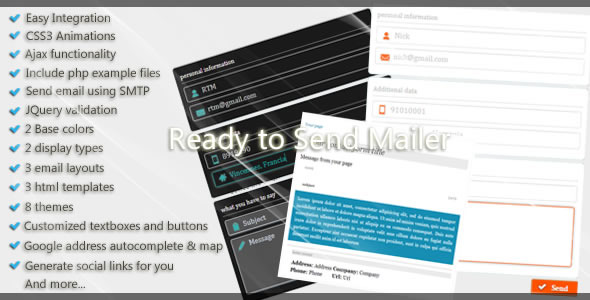 Ready to Send Mailer - CodeCanyon Item for Sale
