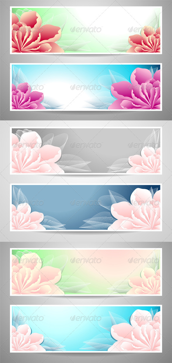 Two Flowers Banners  - Flowers & Plants Nature