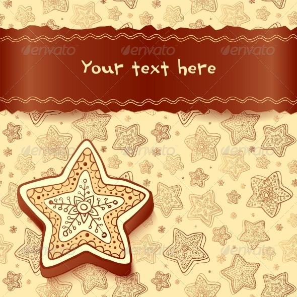 Christmas Chocolate Honey-Cakes Greetings Card - Birthdays Seasons/Holidays