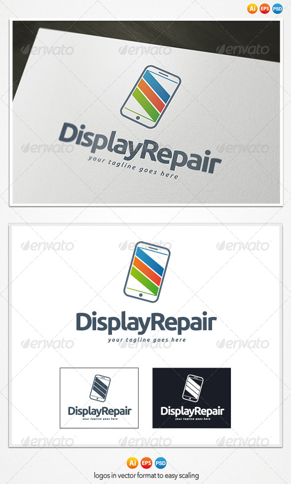 Display Repair Logo - Objects Logo Templates