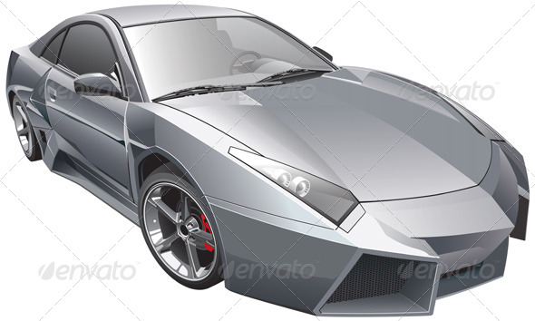 Futuristic Car - Vectors