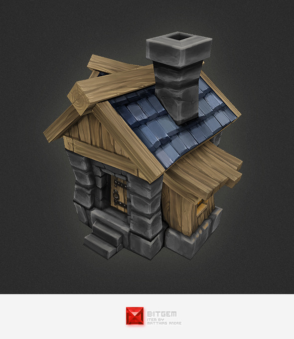 Low Poly RTS Human House - 3DOcean Item for Sale