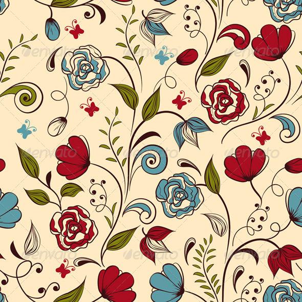 Seamless Spring Pattern - Patterns Decorative