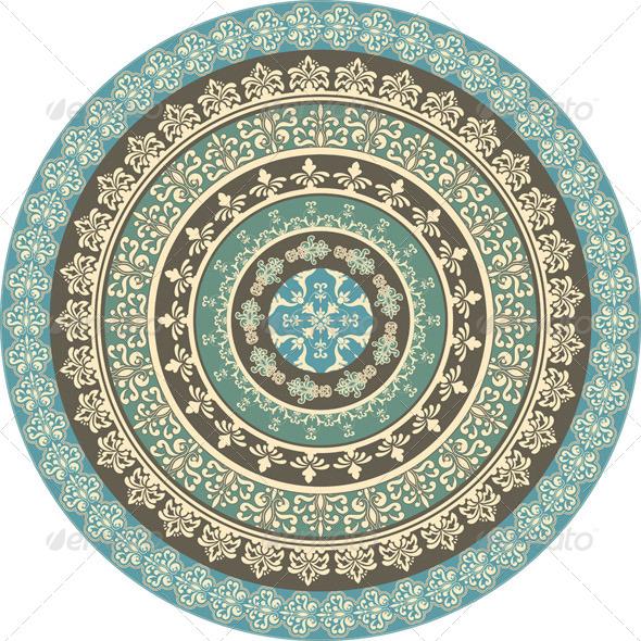 Vector Set of Circle Frames - Borders Decorative