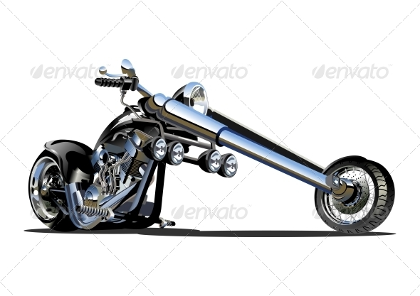 Vector Cartoon Motorbike - Birthdays Seasons/Holidays