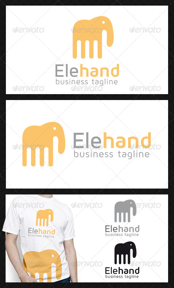 Elephant Hand Logo Template - Animals Logo Templates