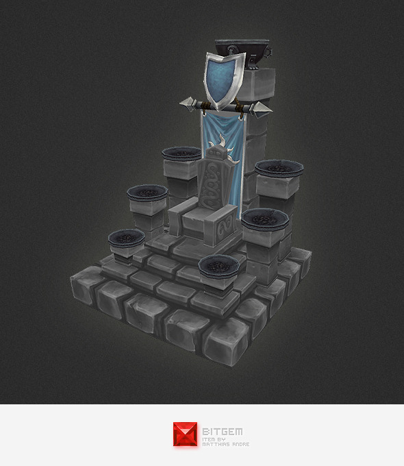 Low Poly RTS Human Throne - 3DOcean Item for Sale