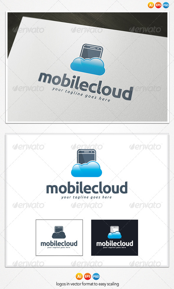 Mobile Cloud Logo - Objects Logo Templates