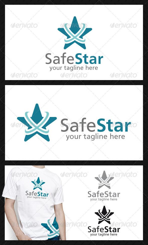 Safe Star Logo Template - Symbols Logo Templates