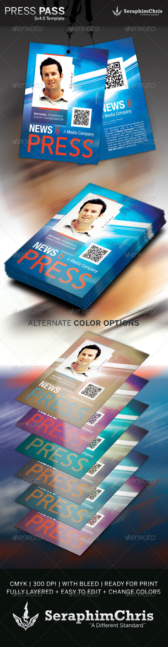 Press Pass Template 3 by SeraphimChris | GraphicRiver
