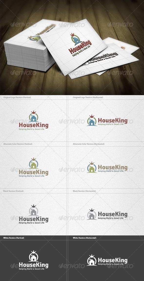 King House Logo - Buildings Logo Templates