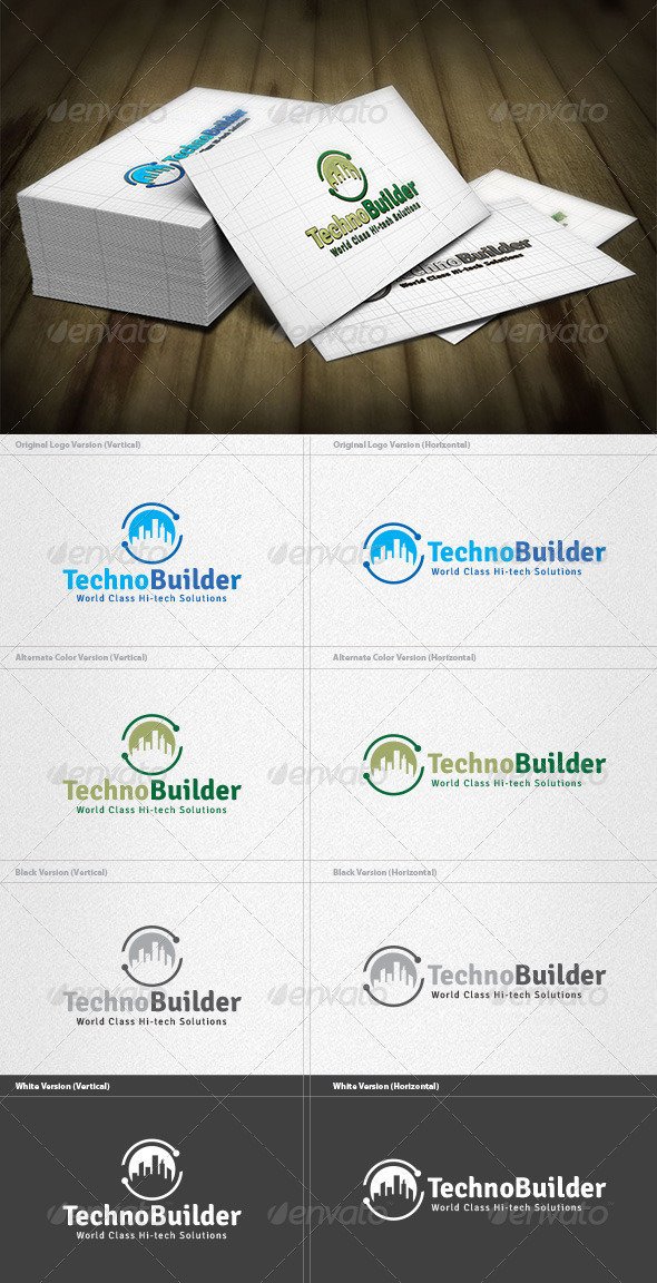 Techno Builder Logo - Buildings Logo Templates