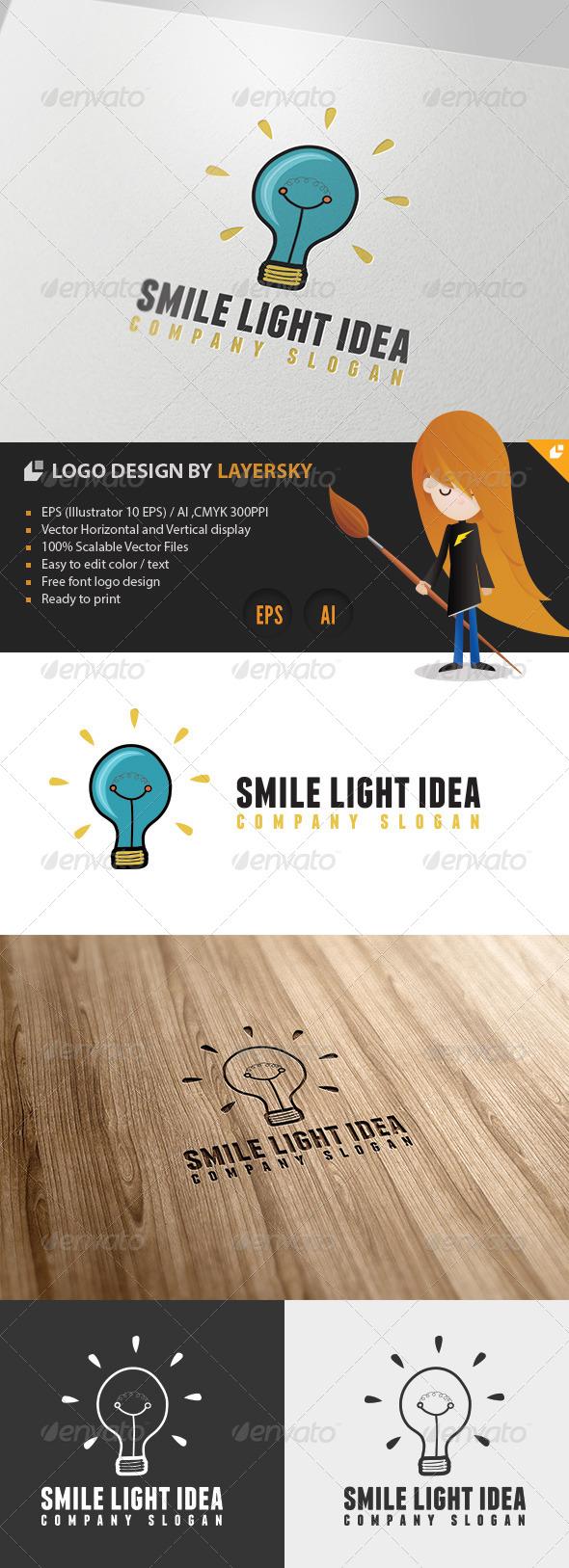 Smile Light Idea Logo - Objects Logo Templates