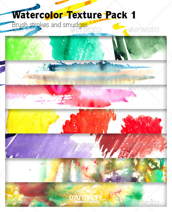 Watercolor Texture Pack 1 - Textures