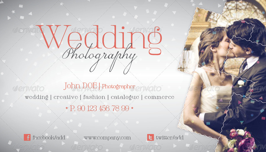 Wedding Photography Business Card Template By Grafilker GraphicRiver - Wedding business card template