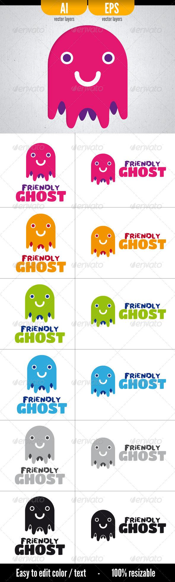 Friendly Ghost - Symbols Logo Templates