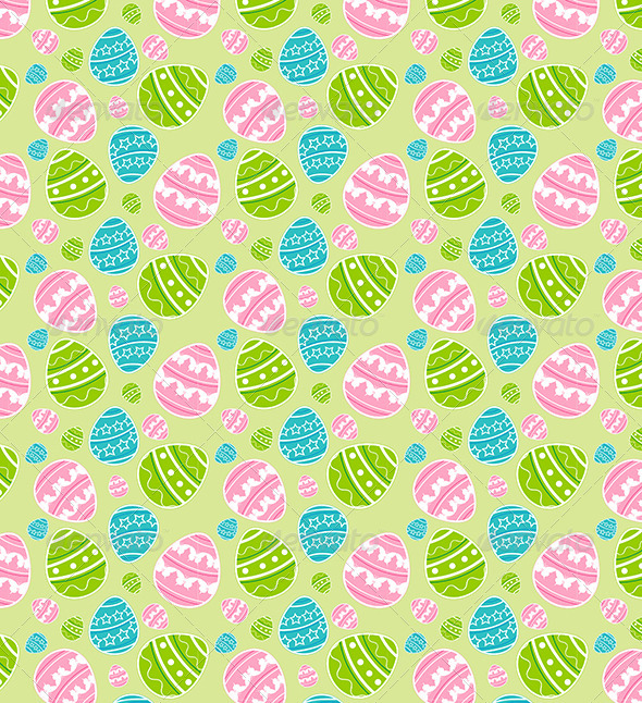 Green Easter Seamless Pattern - Patterns Decorative
