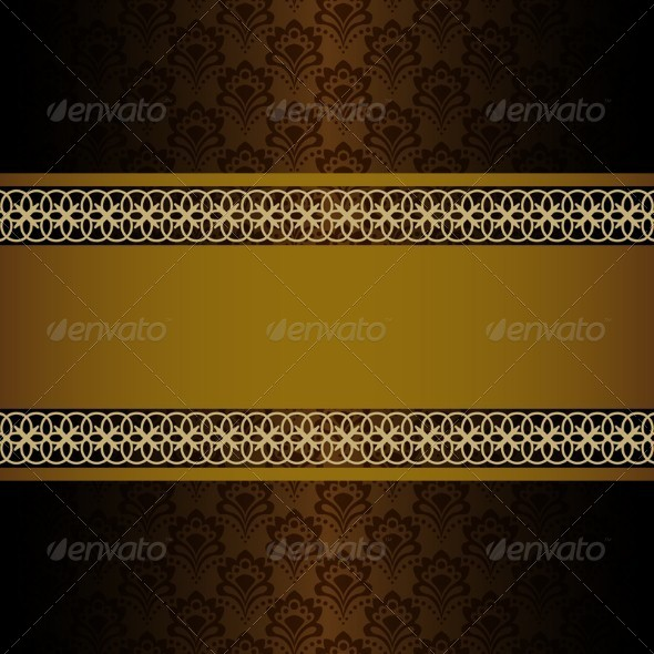 Vintage Background - Borders Decorative